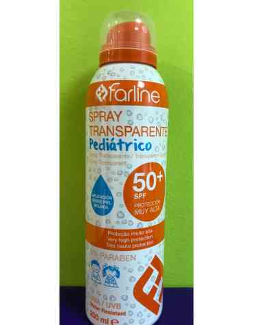 FARLINE SOLAR PEDIATRICO SFP 50+ SPRAY APLICACION MOJADO 200 ML