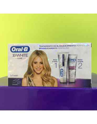 ORAL-B 3DWHITE PACK 2X75ML TRATAMIENTO DE BLANQUEAMIENTO PERFECCION PACK