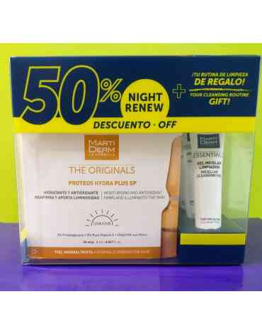 PACK MARTIDERM PROTEOS HYDRA PLUS SP 30 AMP + NIGHT RENEW 10 AMP