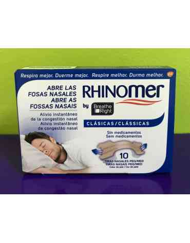 RHINOMER BY BREATHE RIGHT TIRA ADH NASAL CLASICAS T- PEQ-MED 10 U
