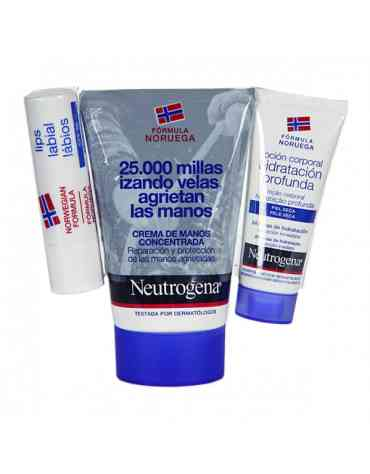 NEUTROGENA CREMA DE MANOS CONCENTRADA + STICK LABIAL SPF 20 PACK 50 ML + 4.8 G