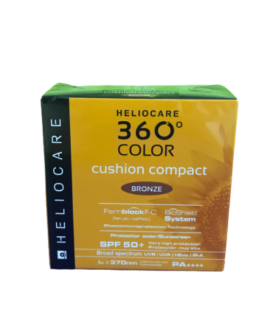 HELIOCARE 360º COLOR CUSHION COMPACT SPF 50+ PROTECTOR SOLAR BRONZE 15 G