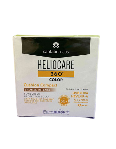 HELIOCARE 360º COLOR CUSHION COMPACT SPF 50+ PROTECTOR SOLAR BRONZE INTENSE 15 G