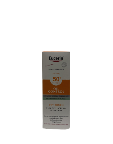 EUCERIN SUN PROTECTION 50+ GEL CREME ROSTRO OIL CONTROL 1 ENVASE 50 ML