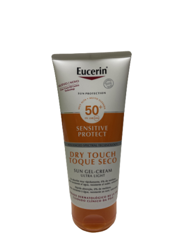 EUCERIN SUN BODY GEL CREAM DRY TOUCH SPF 50+ SENSITIVE PROTECT 1 ENVASE 200 ML