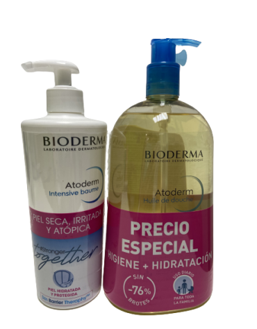 PACK ATODERM HUILE DOUCHE 1L+ ATODERM INTENSIVE BAUME 500ML