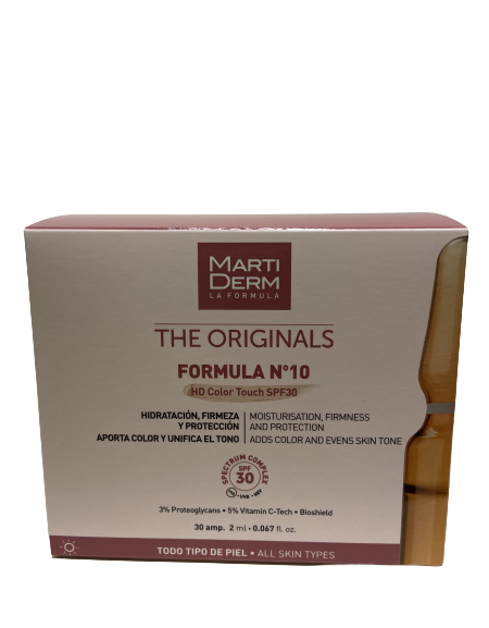 MARTIDERM FORMULA Nº 10 HD COLOR TOUCH SPF 30 30 AMPOLLAS 2 ML